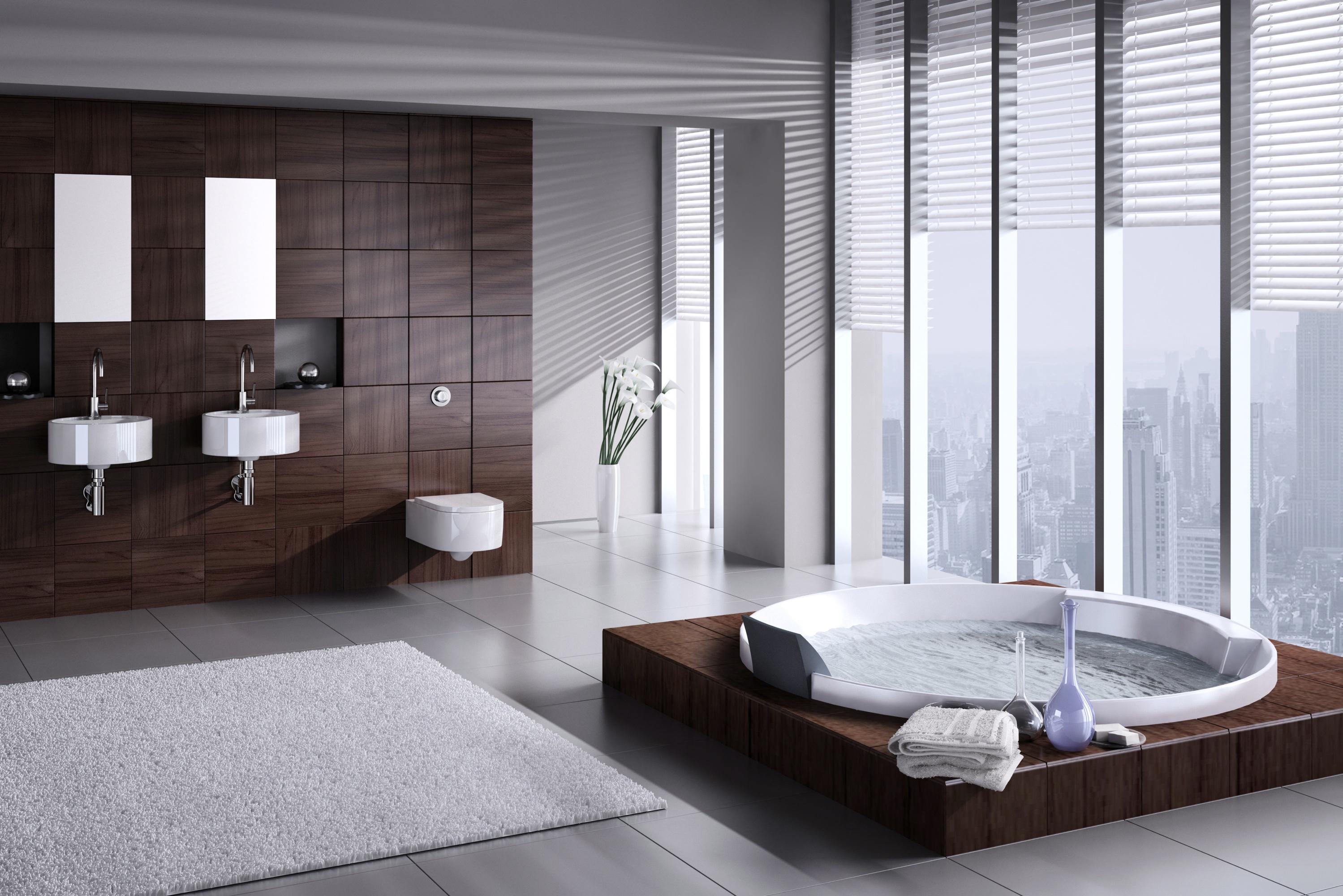 Peperdure badkamer