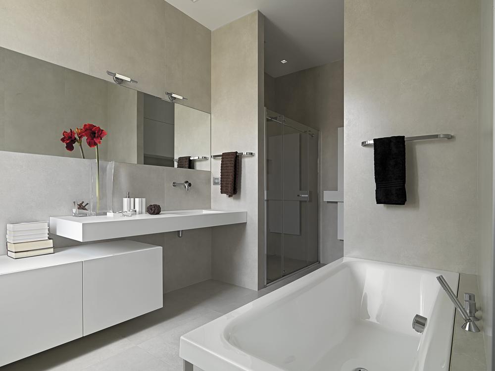 Simpel modern badkamer
