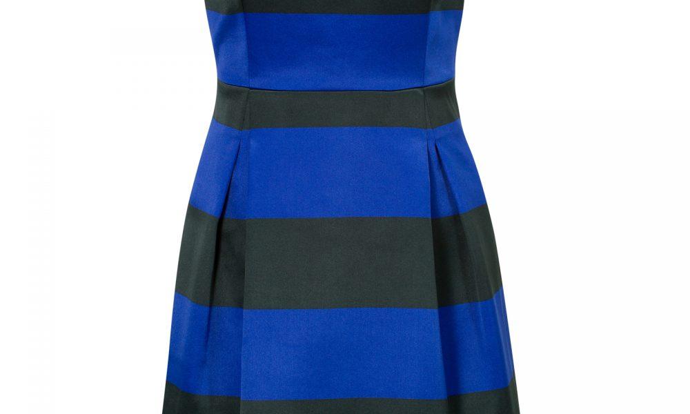 blauw zwarte jurk