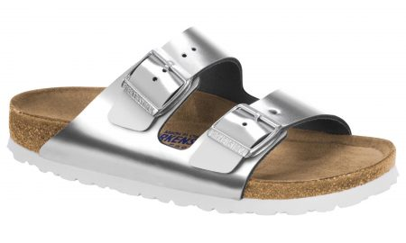 Arizona Natural Leather Soft footbed Silver