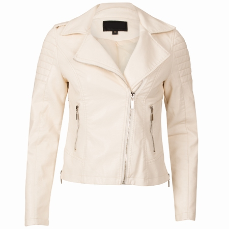 Gallery women s acne studios velocite chiffon jackets an exquisite cream jacket can make your party goosecraft women jackets leather biker ladies vintage style biker.