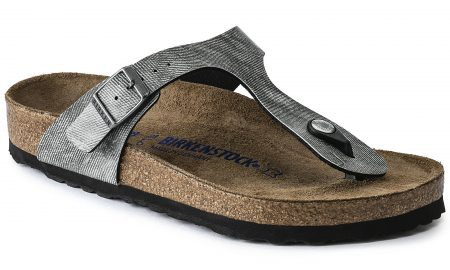 Gizeh Birko-Flor Soft footbed Jeans Washed Out Gray