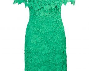 Steps jurk groen kant