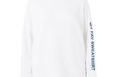 MANGO Sweatshirt met geborduurde boodschap