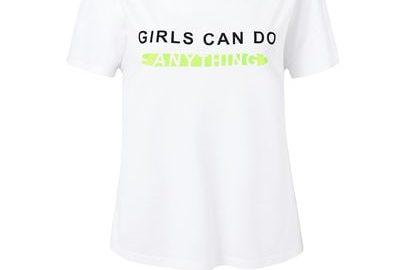 MANGO T-shirt met boodschap