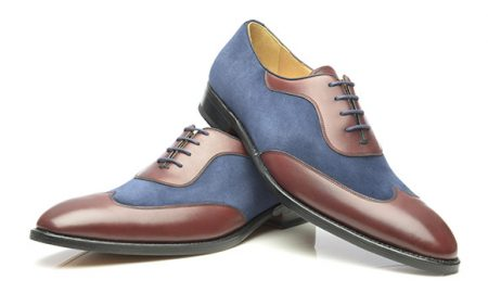 Two Tone Oxford in Bordeaux und Blau