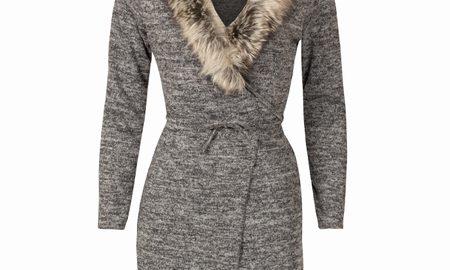Vest Melange Gray & Fur