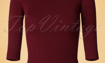 50s Wickedly Wonderful Top in Burgundy