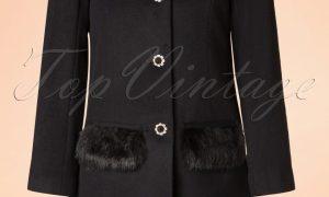 60s Juliette Coat in Black