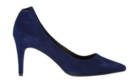 Nubuck damespump Blauw Steps