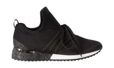 Sneaker met glansdetail Zwart Steps
