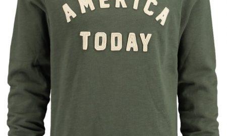 America Today Heren Sweater Story Men Groen (Letters/opdruk/print