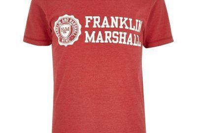 Franklin and Marshall - Rood T-shirt met print