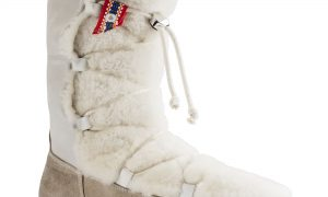 Nuuk Suede Leather/Fur Offwhite