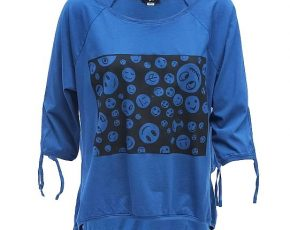 Shirt emoe 3/4 blue