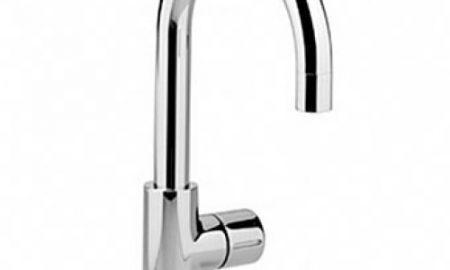 Dornbracht Tara Logic toiletkraan met draaibare uitloop 12cm chroom 1750088500