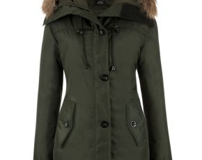 Parka Dames Winterjas.North Style Dames Parka Winterjas 1402 Leger Groen