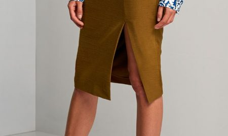 Pencil Skirt With Slide Slits