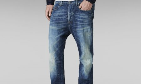 US Lumber Straight Red Listing Jeans