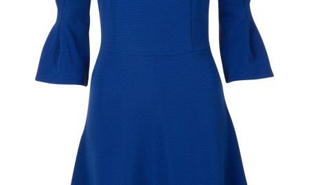 17a7b224d1f0bd A-lijn jurk met trompetmouwen Blauw Steps ...