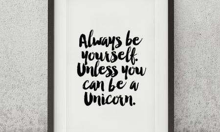 Always Be Yourself Unless... Poster van MottosPrint
