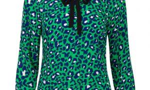 Funblouse met panterprint Groen Steps