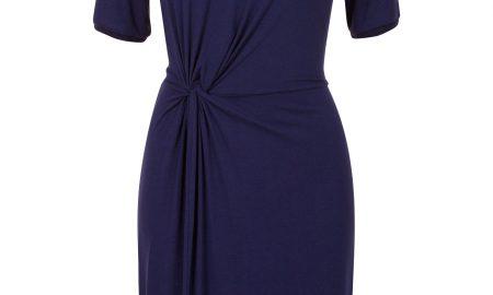 7750fc725f9e2b Tricot V-hals jurk Blauw Steps ...