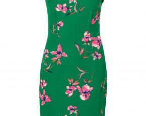 Aansluitende jurk met bloemenprint Groen Steps