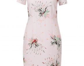 Aansluitende jurk met bloemenprint Roze Steps
