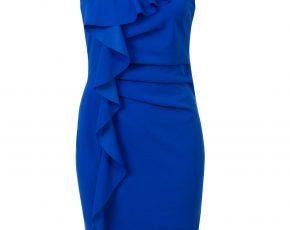 Aansluitende jurk met ruffels Blauw Steps