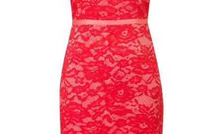 Aansluitende kanten jurk Rood Steps