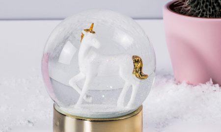 Eenhoorn sneeuwbol