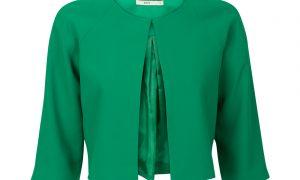Kort jasje met ronde kraag Groen Steps