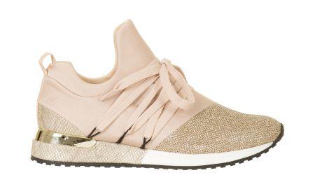 Sneaker met glansdetail Roze Steps