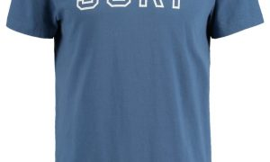 America Today Heren T-shirt Ely Surf Blauw (Letters/opdruk/print