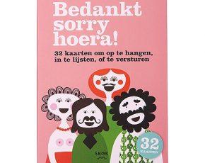 Postkaart Bedankt Sorry Hoera! Uitgeverij Snor