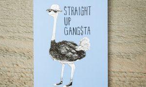 Gansta-vogel wenskaart