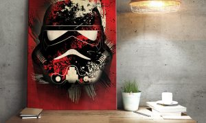 Star Wars metaalposter Stormtrooper Splatter