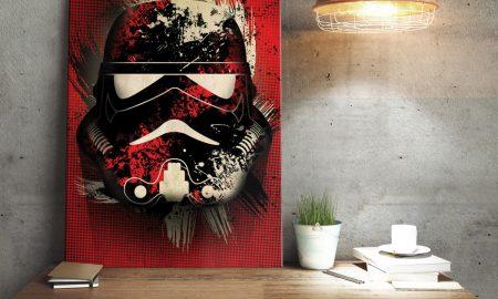 Star Wars metaalposter Stormtrooper Splatter